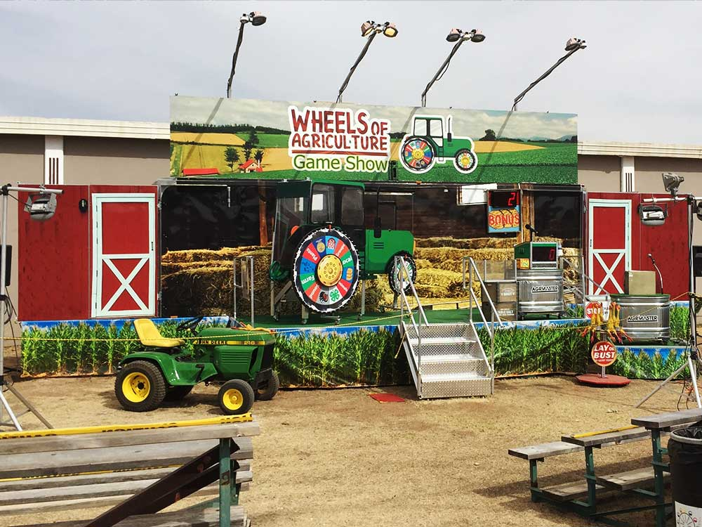 Wheels of Agriculture Game Show Stage